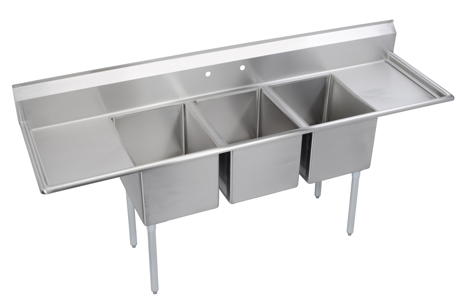 Commercial Triple Sink : Three Compartment Economy Series Sink (E3C18X20218)